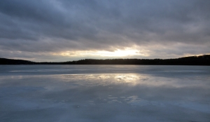 Budd Lake, late afternoon, looking south, Feb 27 2013 (Photo by Jonathan Klizas)