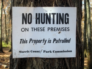 No Hunting, Long Hill, NJ, Nov. 10, 2013 (photo by J. Klizas).