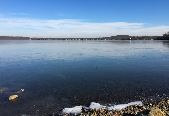 Frozen Budd Lake, NJ, Nov. 22, 2014 (iPhone photo by Jonathan Klizas)