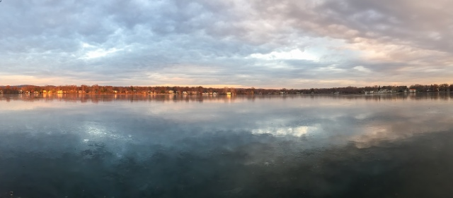 Frozen Lake Parsippany, NJ, Nov. 23, 2014 (iPhone pano by Jonathan Klizas)