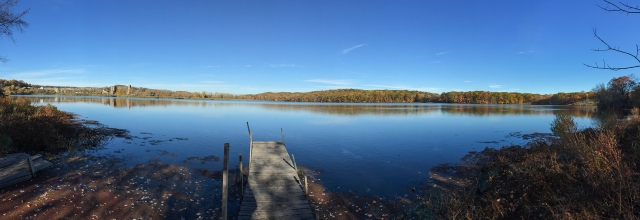 Mt. Hope Lake, NJ, Nov. 8, 2014 (iPhone pano by Jonathan Klizas)