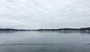 Looking north from Bertrands Island, Lake Hopatcong, NJ, Jan. 11, 2015 (photo by Jonathan Klizas)