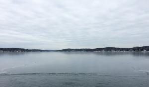 Looking north from Bertrands Island, Lake Hopatcong, NJ, Jan. 11, 2015 (photo by Jonathan Klizas)