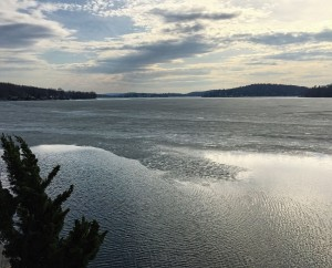 Lake Hopatcong looking south from Nolan's Point, Apr. 6, 2015 (iPhone photo by Jonathan Klizas)