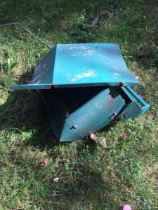 Mangled bird feeder