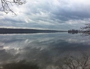 Boonton Reservoir looking south, NJ, Mar. 25, 2016 (iPhone photo by Jonathan Klizas)