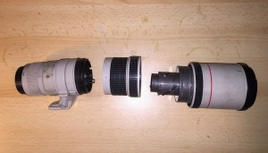 Canon EF 400mm f/5.6L USM Lens - exploded view IMG_2338 (iPhone photo by Jonathan Klizas)